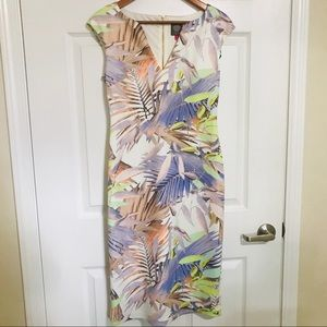 Vince Camuto Birds of Paradise Fitted Dress
